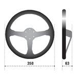 Sparco R345 Racing Steering Wheel, Black Leather-2