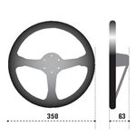 Sparco L550 Racing Steering Wheel, Blue Suede (0-2