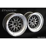 PANDEM 6666 WHEELS 18x11 -40, 5-100, GUNMETAL (6-4