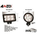 ANZO 4.5in Round High Power LED Fog Light (88100-2