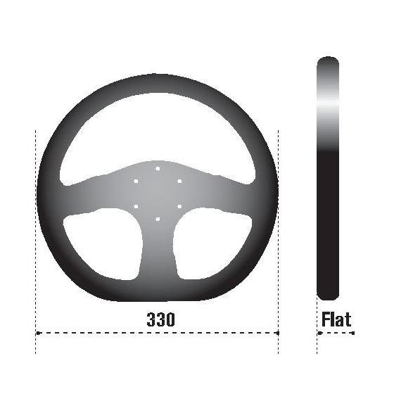 Sparco L360 Racing Steering Wheel, Black Leather-2