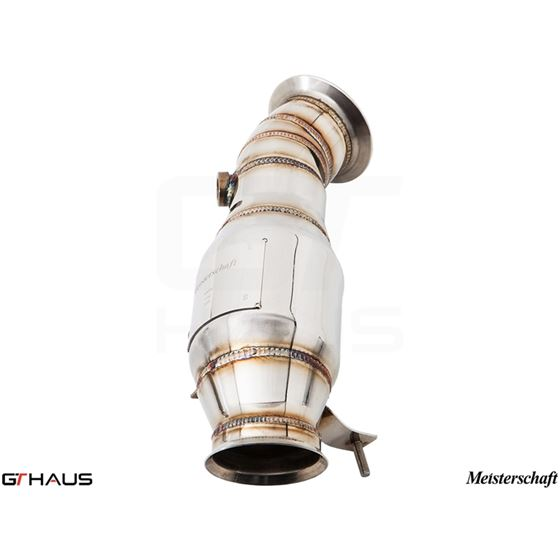 GTHAUS Turbo Back Down Pipe - no cat- Stainless-2