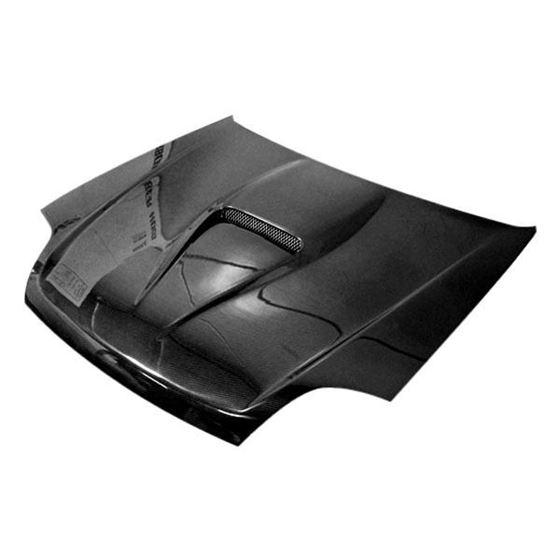 VIS Racing V Spec Style Black Carbon Fiber Hood-2