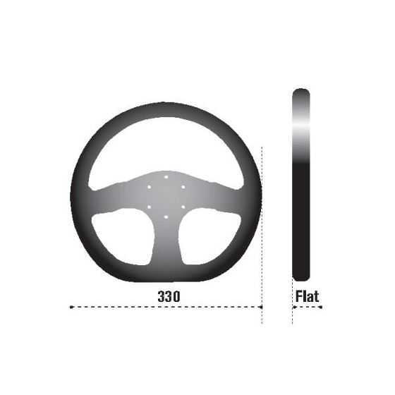 Sparco L999 Mugello Racing Steering Wheel, Black-2