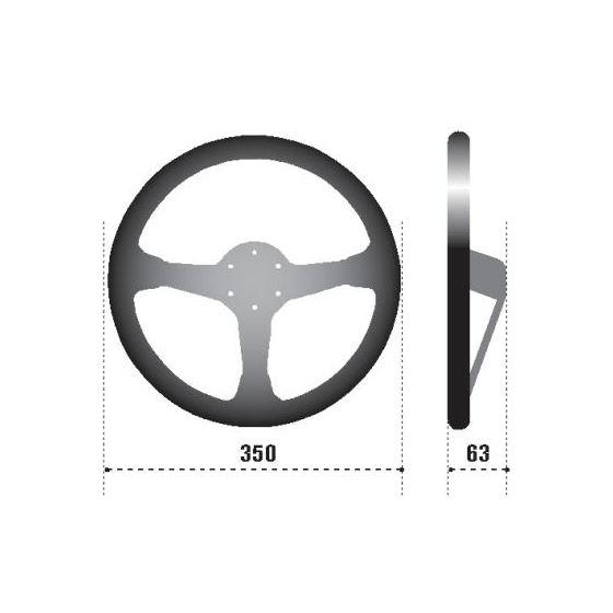 Sparco R345 Racing Steering Wheel, Black Suede (-2