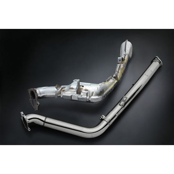 STRAIGHT DOWN PIPE KIT EXPREME EJ SINGLE SCROLL GD Ver 2 with TITAN EXHAUST BANDAGE TB6060 SB02A 4