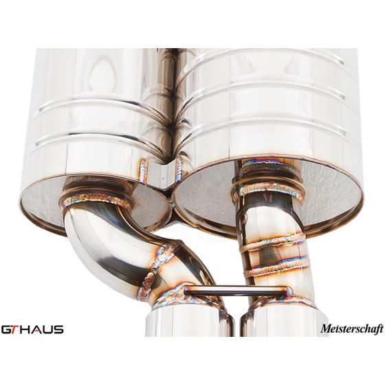 GTHAUS GT Racing Exhaust- Stainless- BM0731222-4