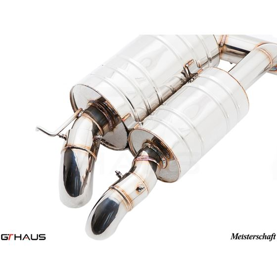 GTHAUS GT Racing Exhaust- Stainless- BM1721200-4