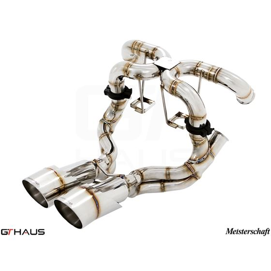 GTHAUS Super GT Racing Exhaust- Stainless- LA021-4