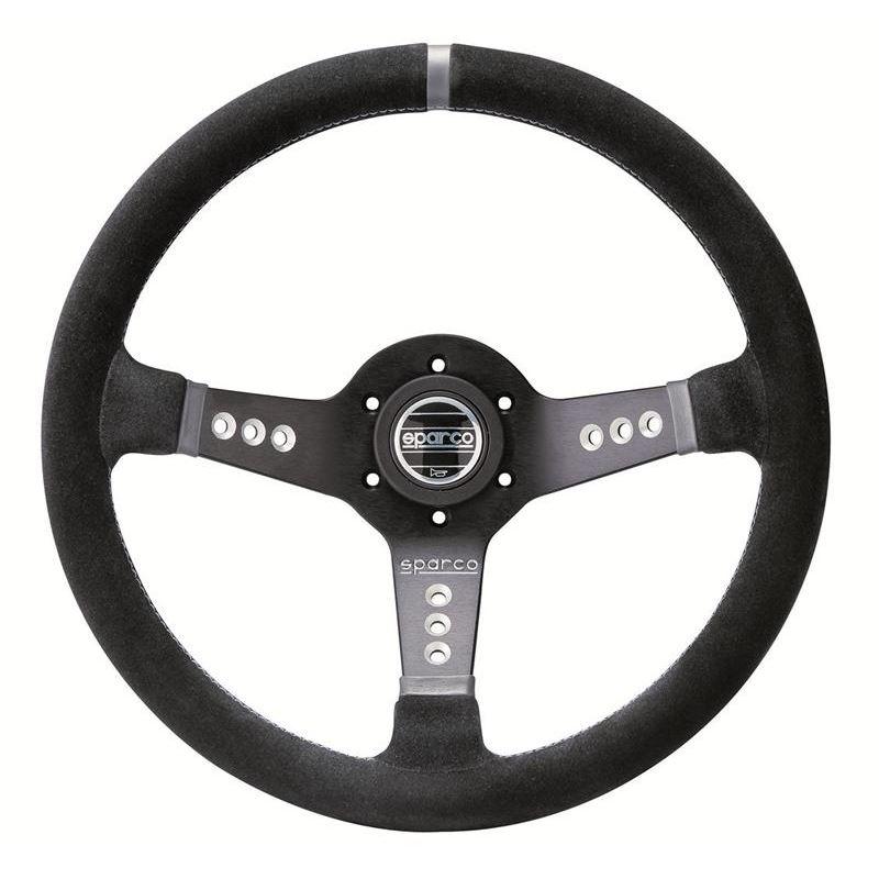 Sparco L777 Piuma Racing Steering Wheel, Black Sue