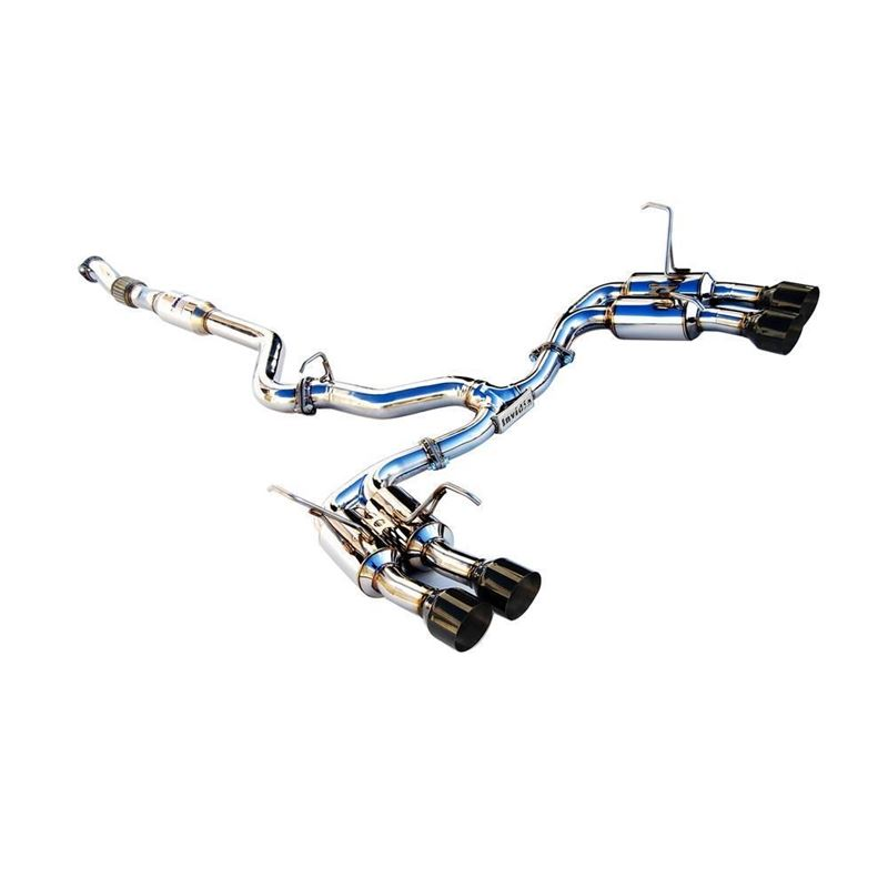 Invidia Gemini Catback Exhaust with Black Tips for
