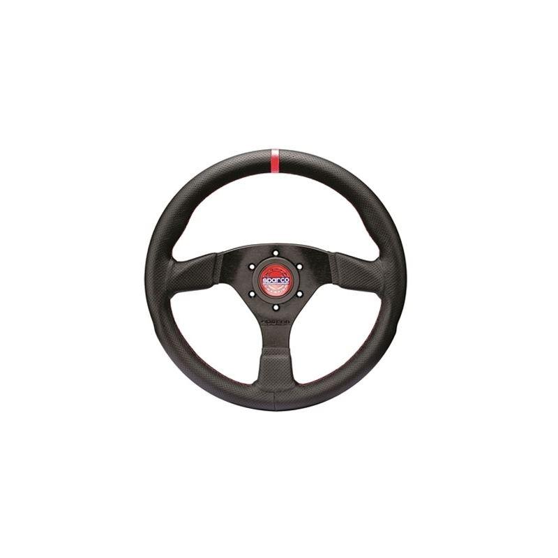 Sparco R383 Champion Racing Steering Wheel, Black