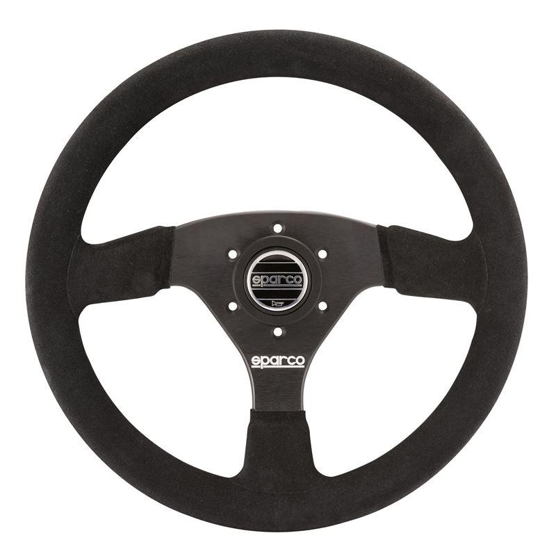 Sparco R323 Racing Steering Wheel, Black Suede (01