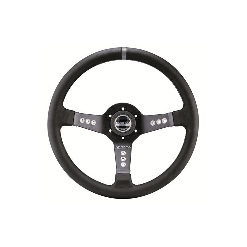 Sparco L777 Piuma Racing Steering Wheel, Black Lea