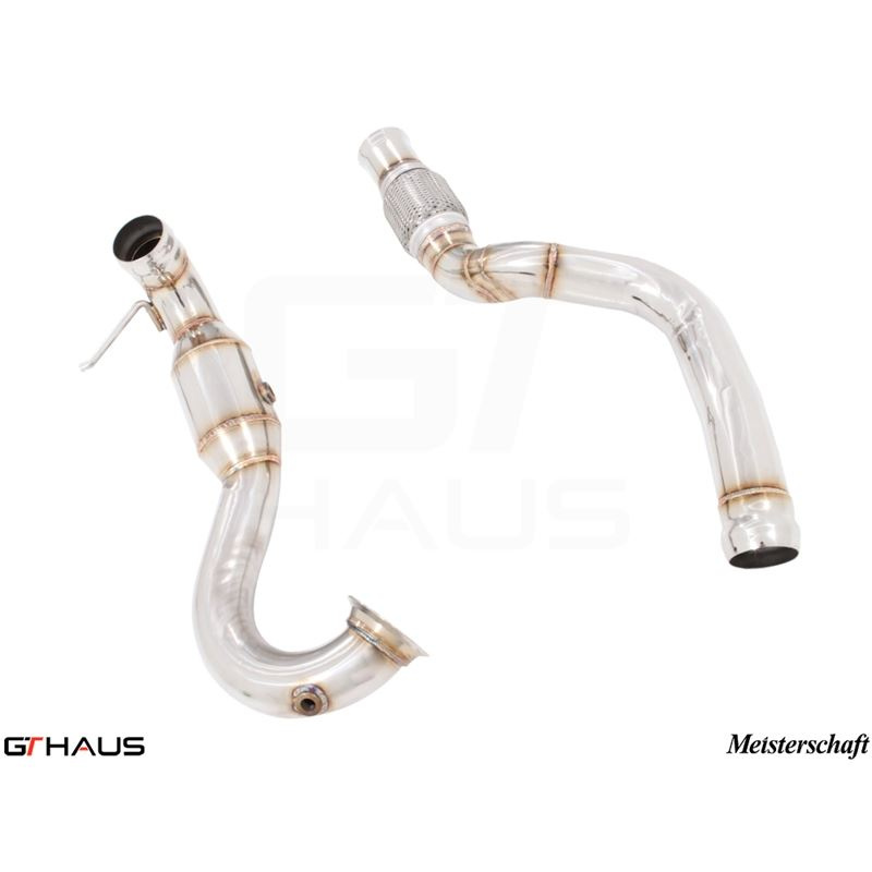 GTHAUS Turbo-Back (outlet) Down Pipe - catless- St