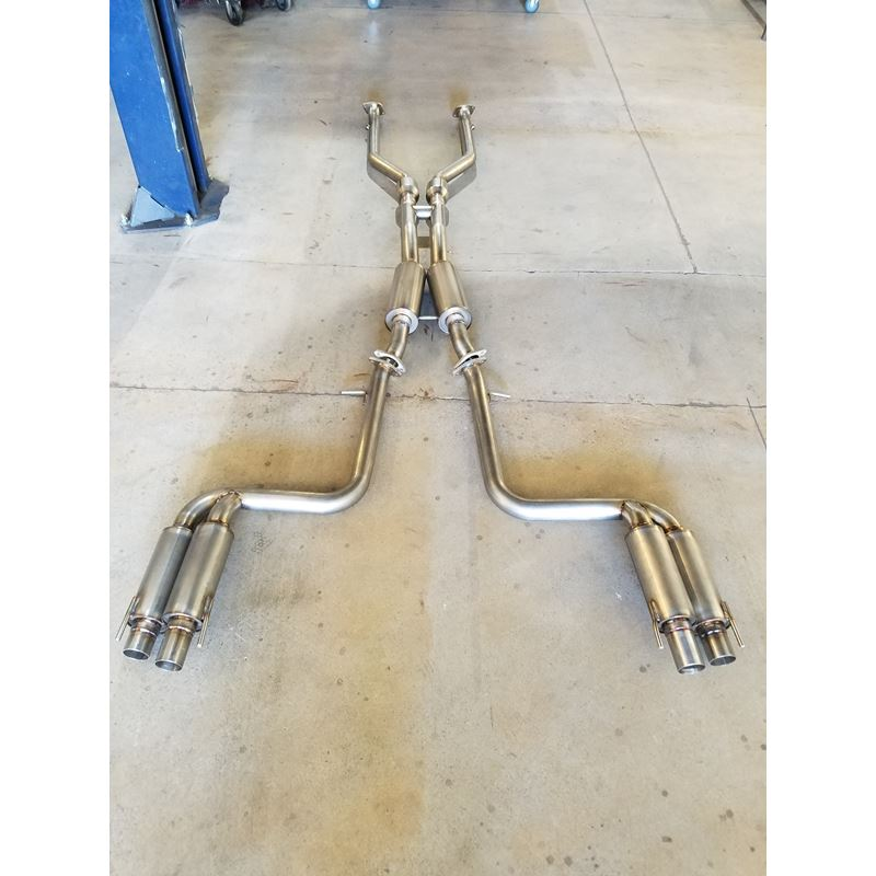 PPE Engineering Lexus RC350 Dual exhaust polished