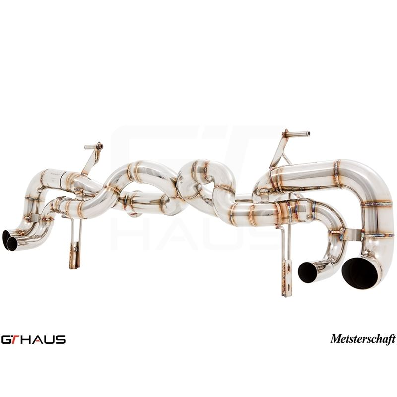 GTHAUS Super GT Racing Exhaust- Stainless- LA01314
